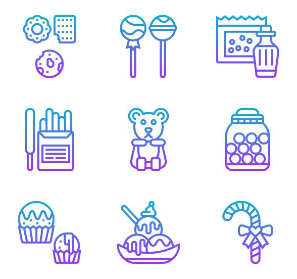 Sugar vector candy. Icon packs svg