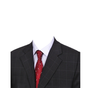 Suit and tie png. Red vectors psd clipart