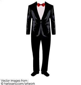 Download wedding suit vector. Tuxedo clipart graphic black and white download