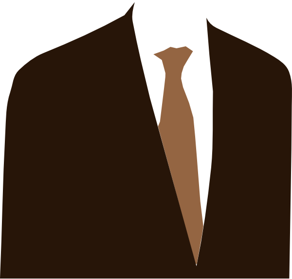 Suits clip. Brown suit art at