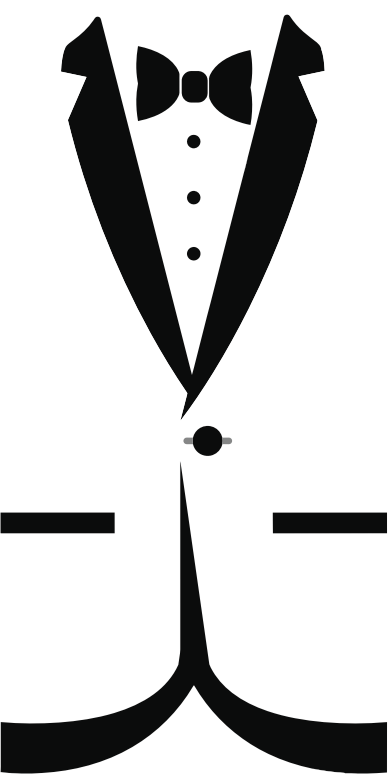 Tuxedo clipart. Png great free silhouette
