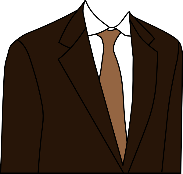 Suit clipart png. Brown clip art at