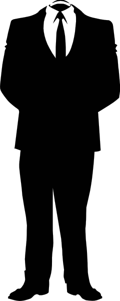 Vector suit animated. Anonymous business clip art