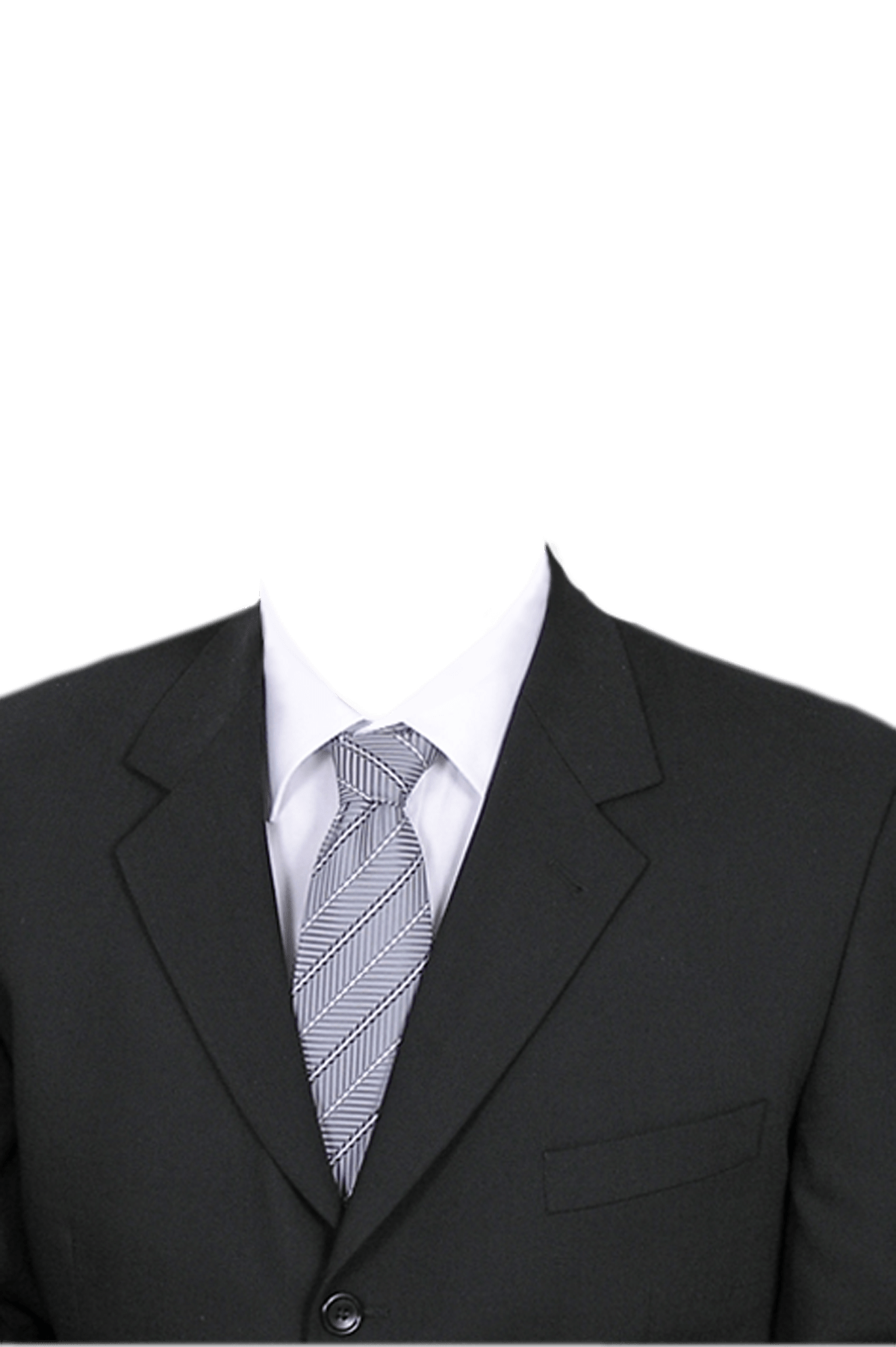 Suit template png. Man in a transparent