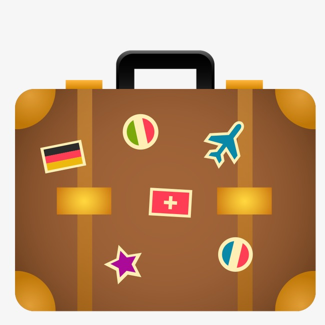 Suitcase clipart. Icon holiday vector png