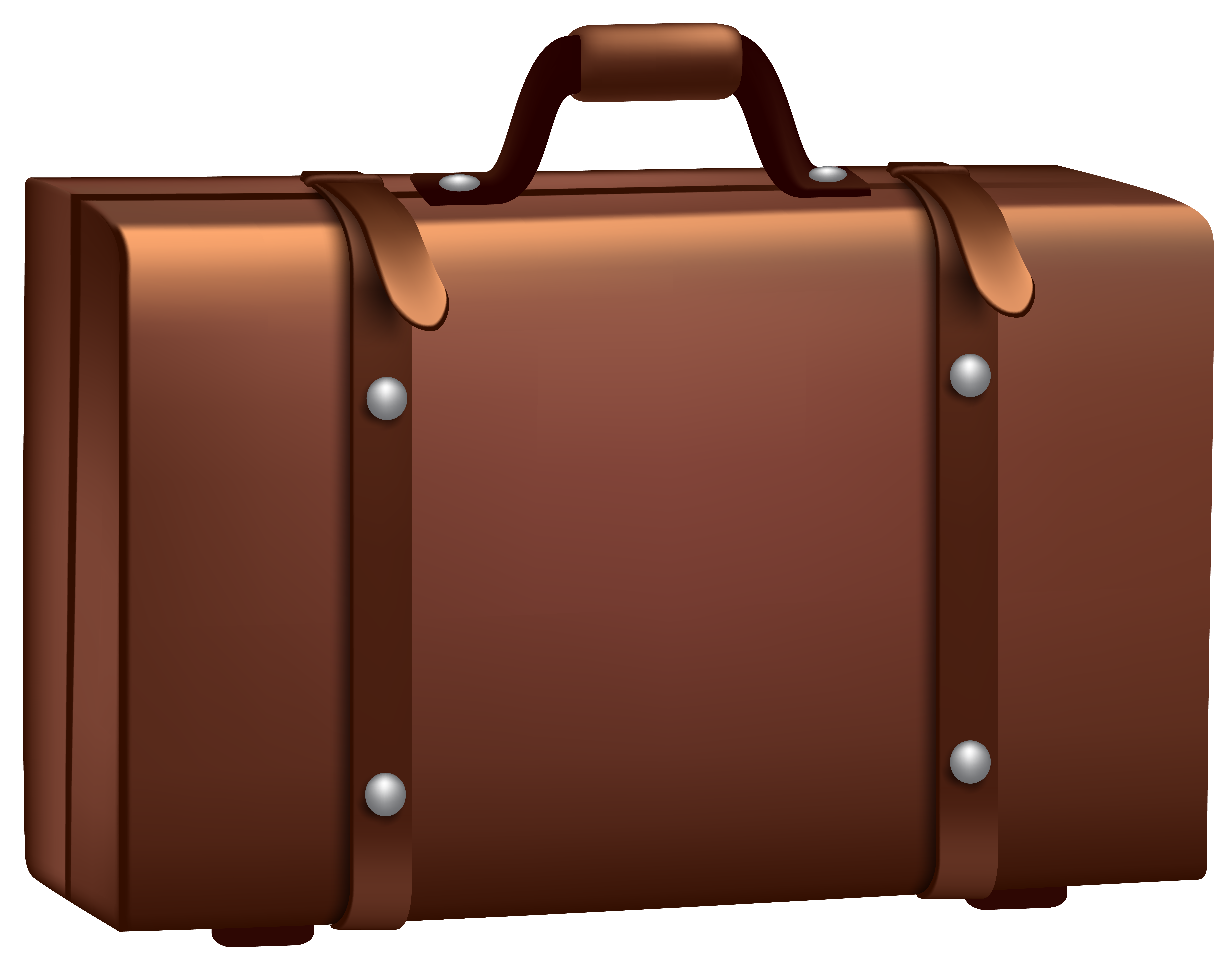 Brown png clip art. Suitcase clipart clipart freeuse library