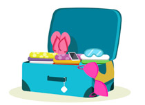 Suitcase clipart. Search results for clip
