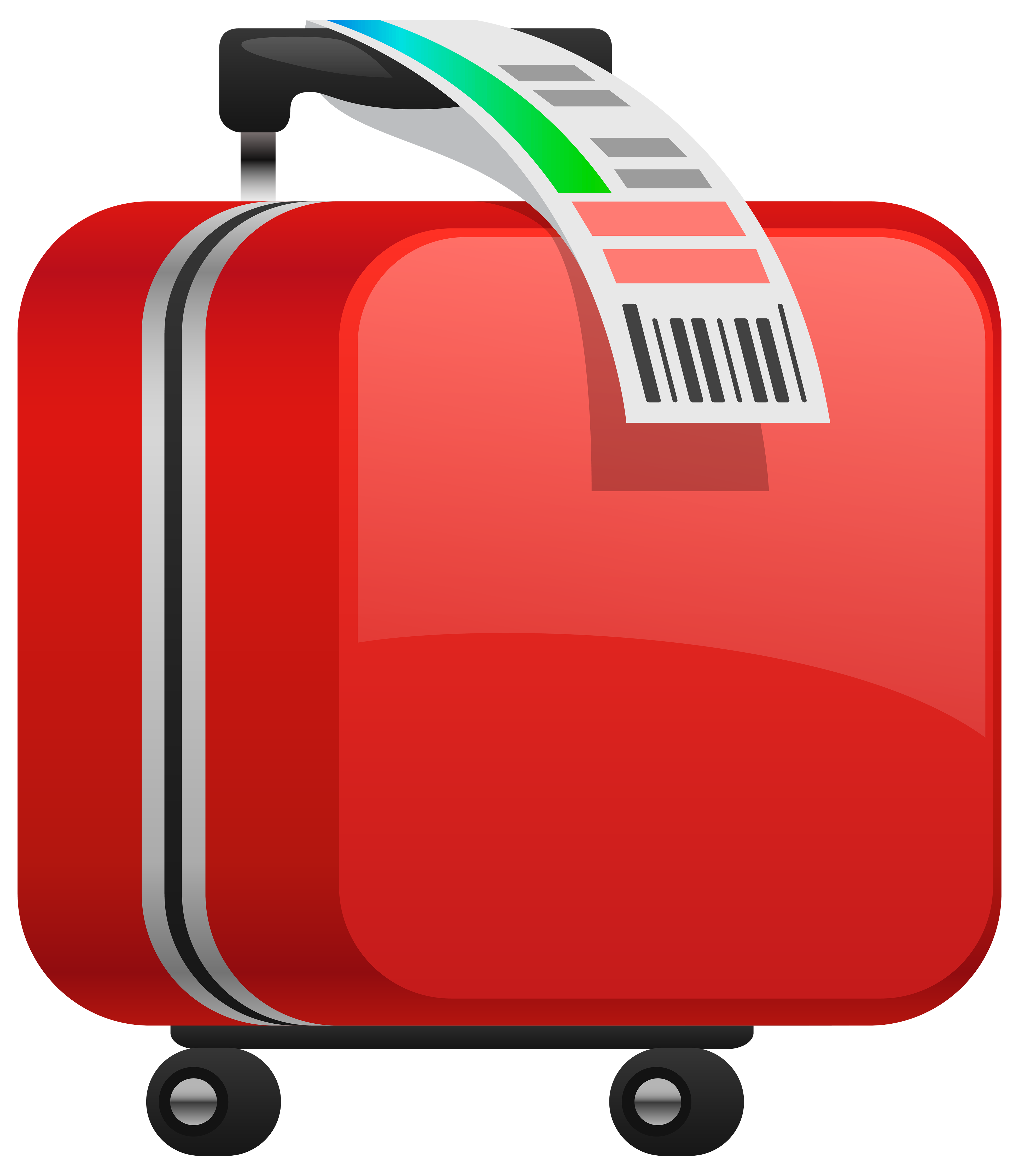 Suitcase emoji png. Checked red clipart image