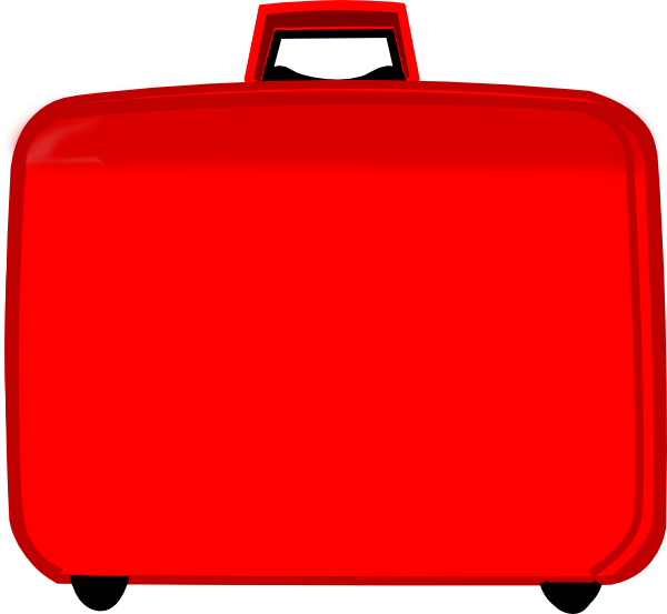 Suitcase clipart suitcase handle. Red clip art at