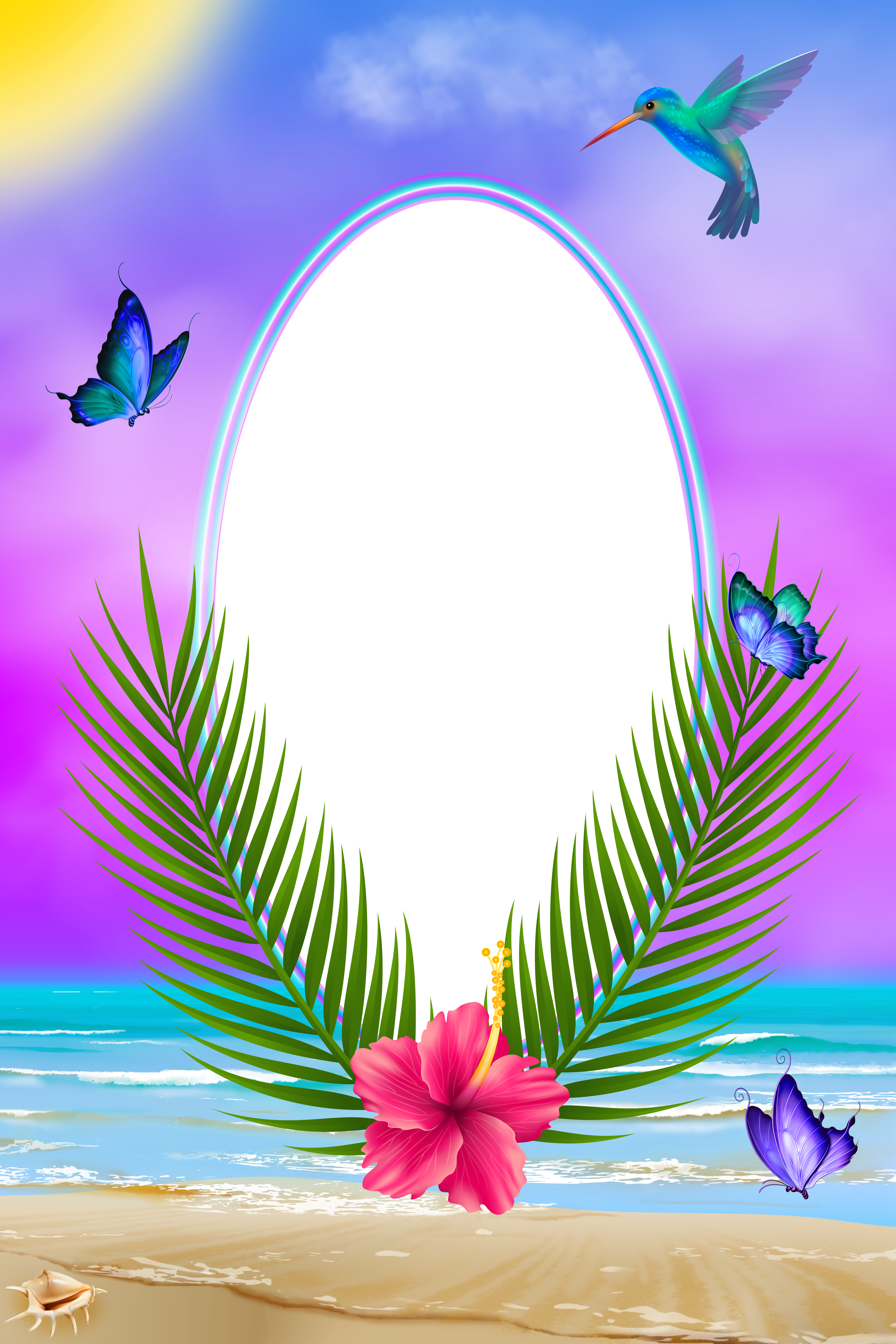 Summer border png. Exotic transparent frame gallery