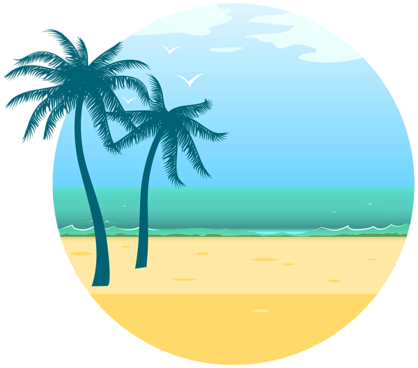 Summer png. Sea decoration clipart image
