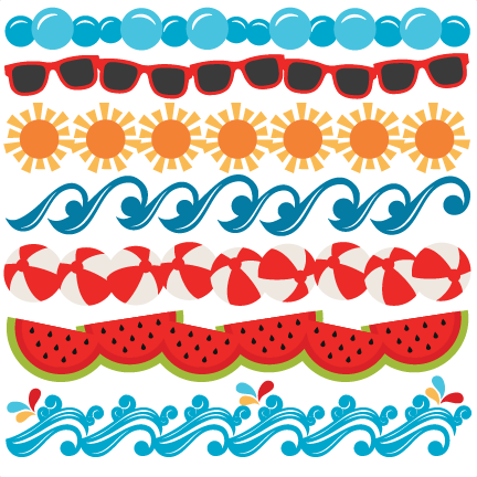 Summer border png. Collection of clipart