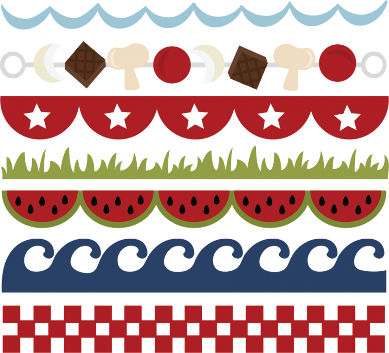 Borders svg cut files. Summer border png picture freeuse stock
