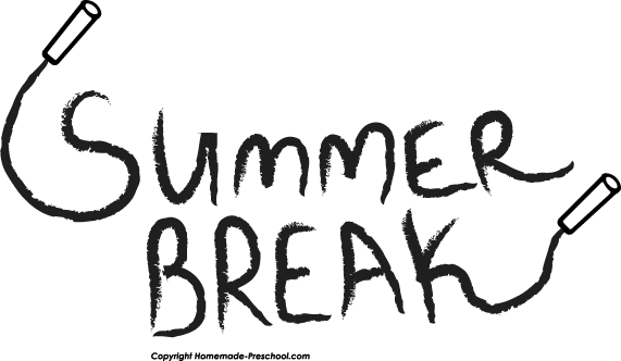 Summer clipart break. Vacation black and white