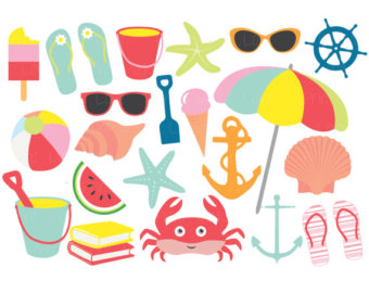 Summer clipart thing. Free digital and papers