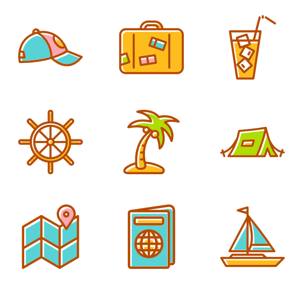 Summer icon png. Icons free vector