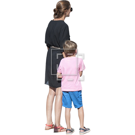 Summer people png. Mom and son parent