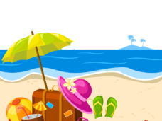 Summer png. Vector clipart psd page
