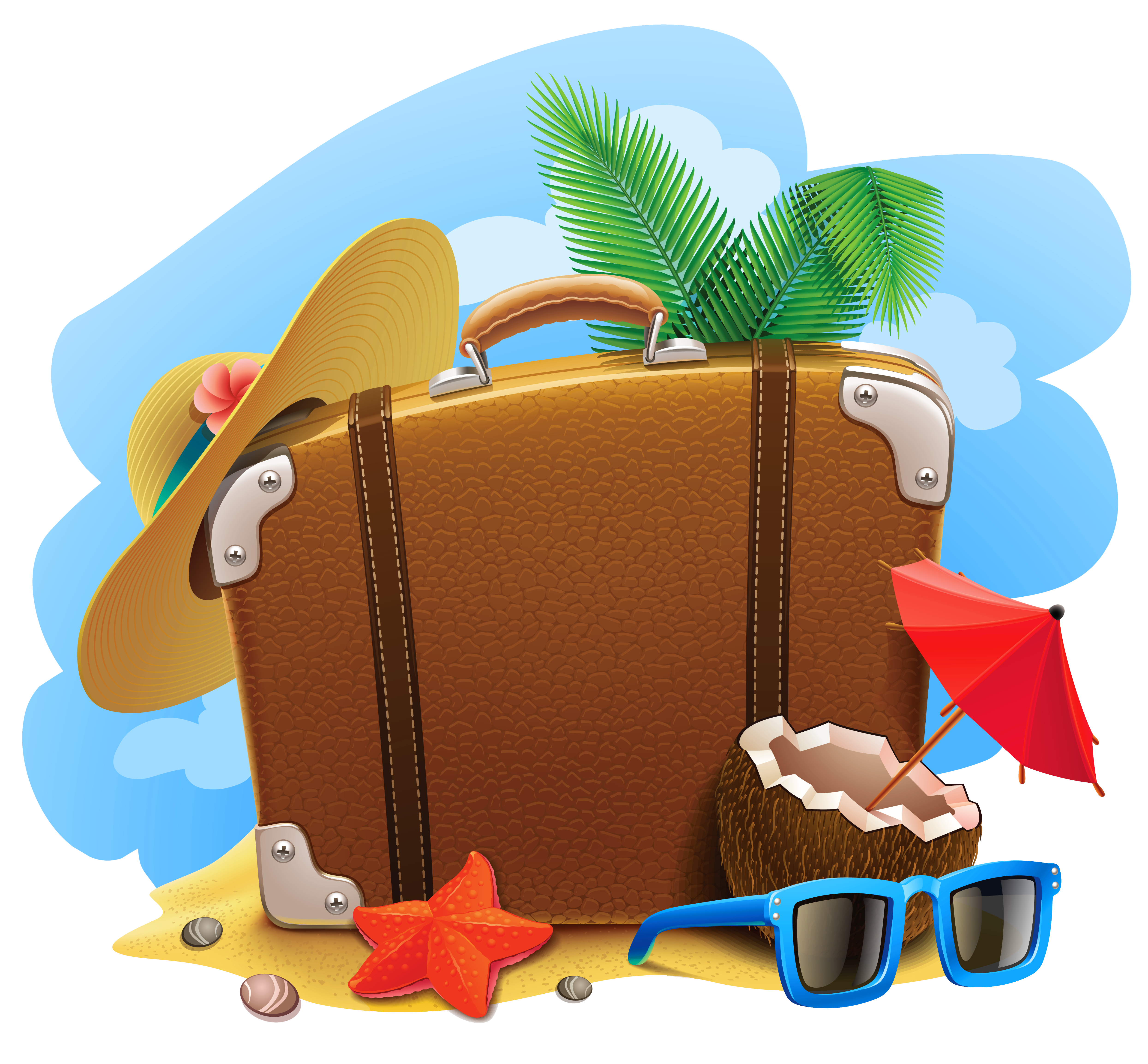 Summer vacation png. Decorative picture clipart gallery