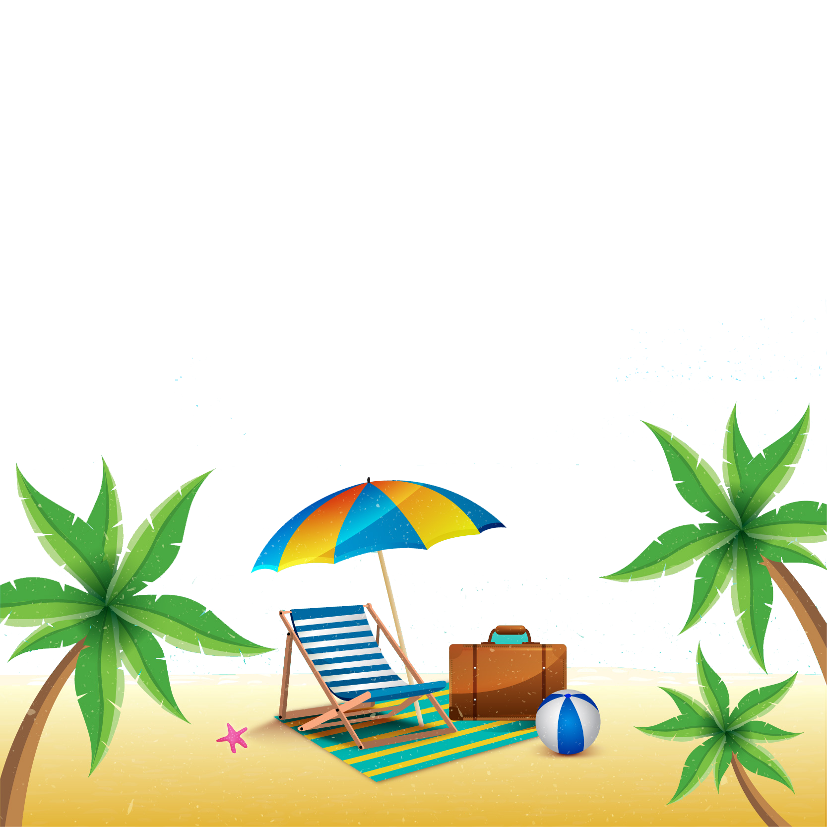 Summer png. Beach image vector clipart