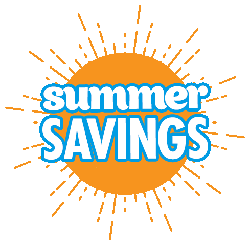 Summer savings png. Limited time offer on