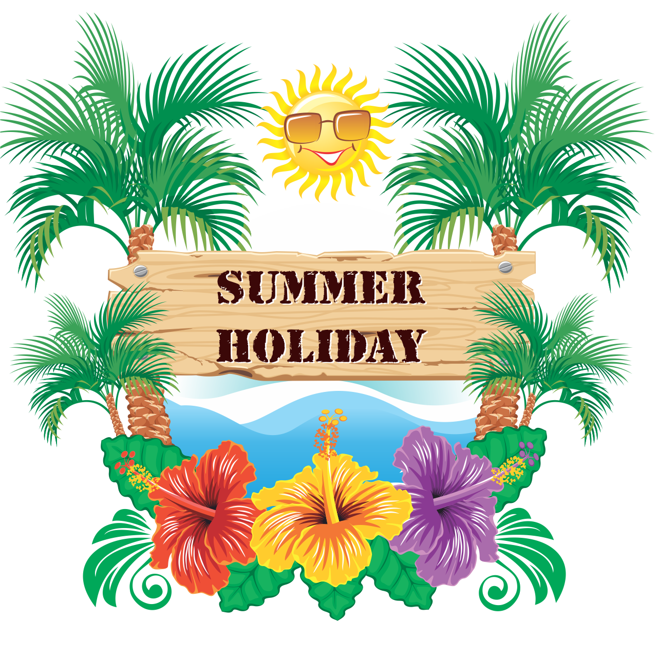 Summer vacation png. Late holiday pinterest enjoy