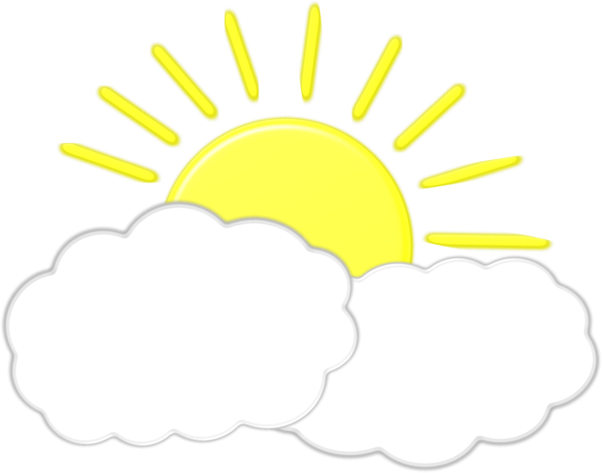 Sun and clouds clipart png. Collection of high