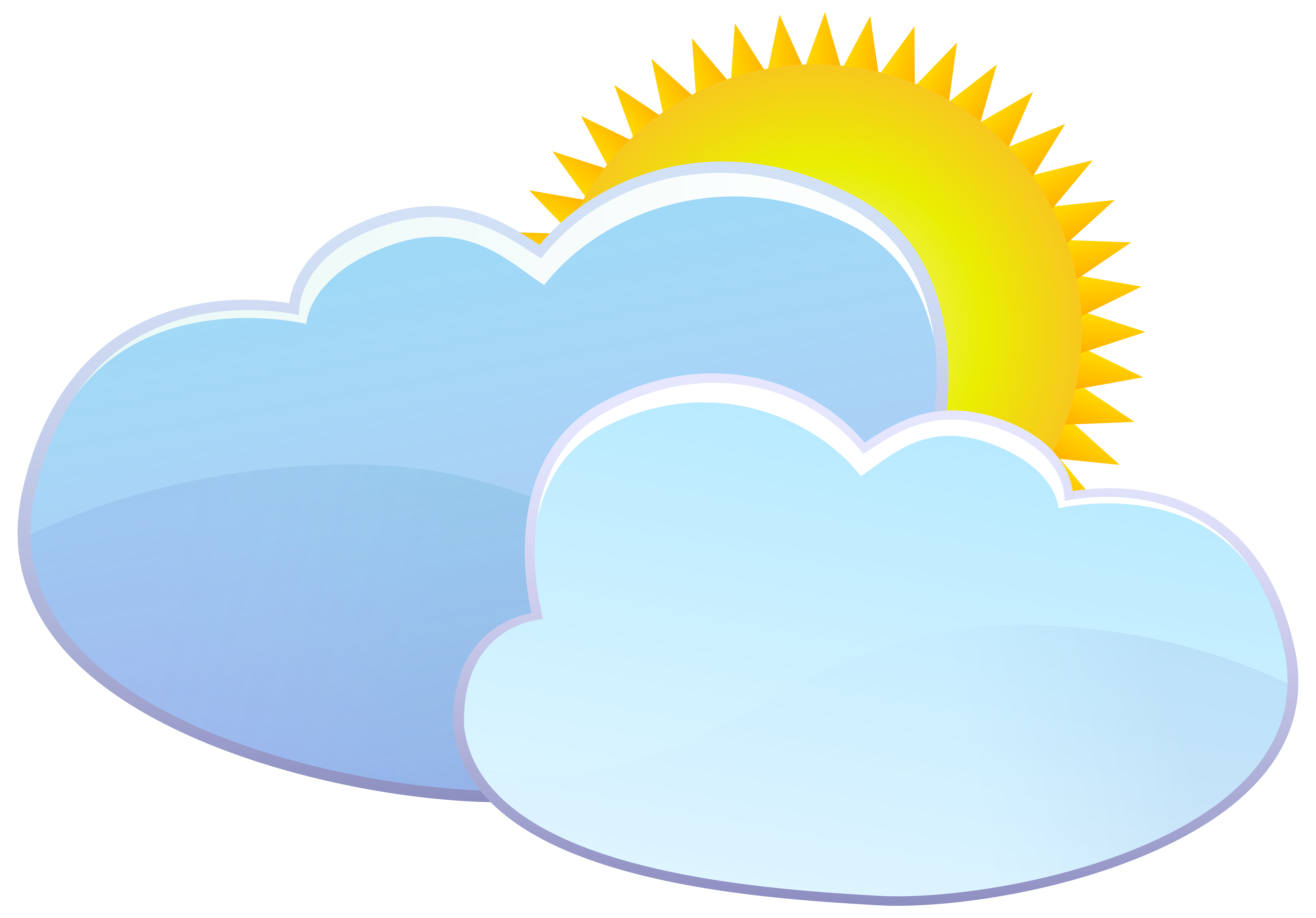 Sun and clouds clipart png. Weather icon clip art
