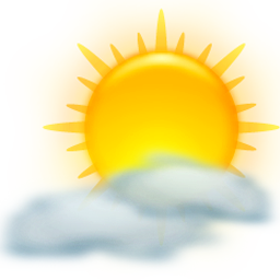 Sun and clouds png. Weather icon