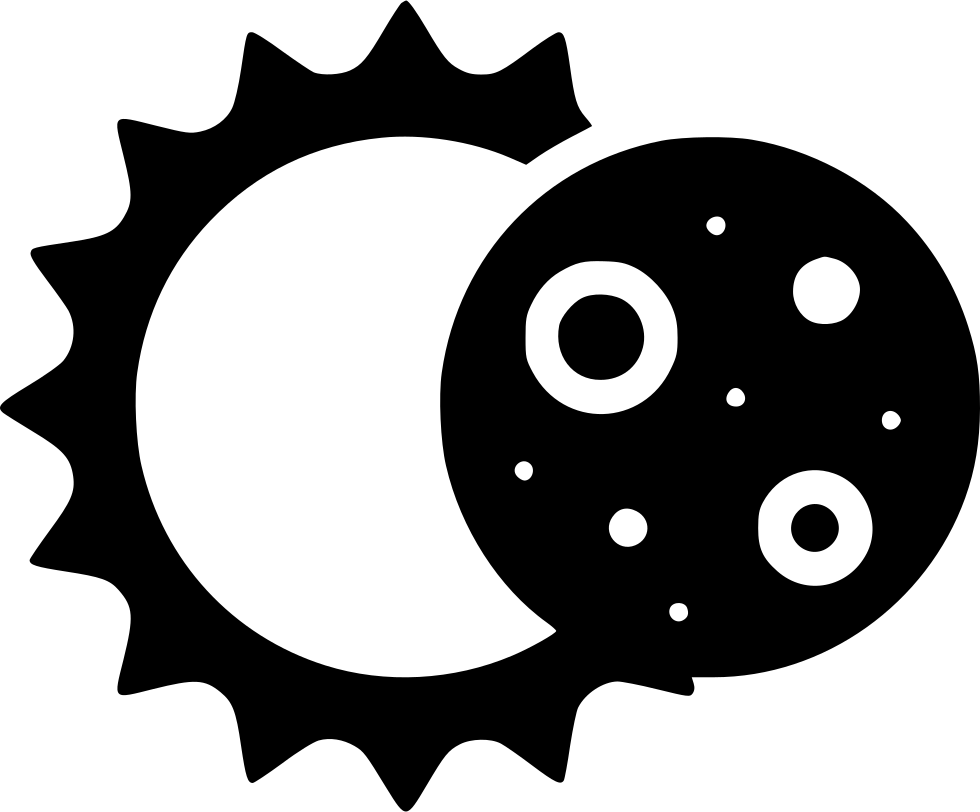 Sun and moon png. Eclipse svg icon free