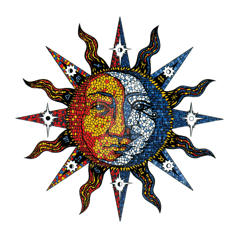 Sun and moon png. Celestial by sandersartgallery on