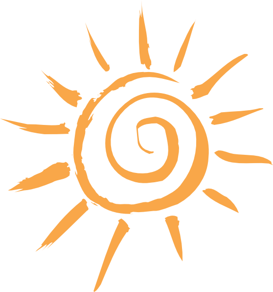 Sun art png. Simple motif clip at