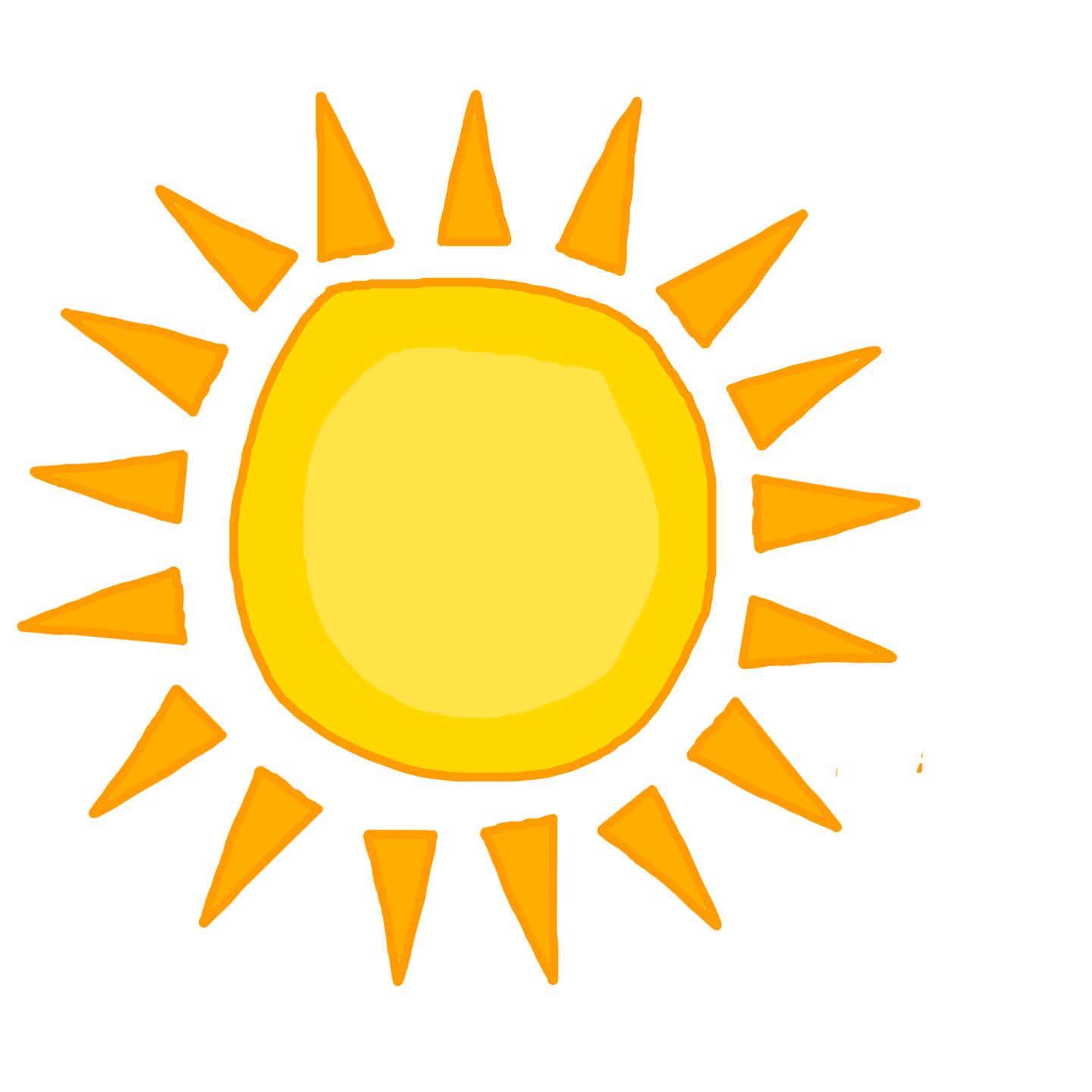 Sun cartoon png. Happy no background transparent