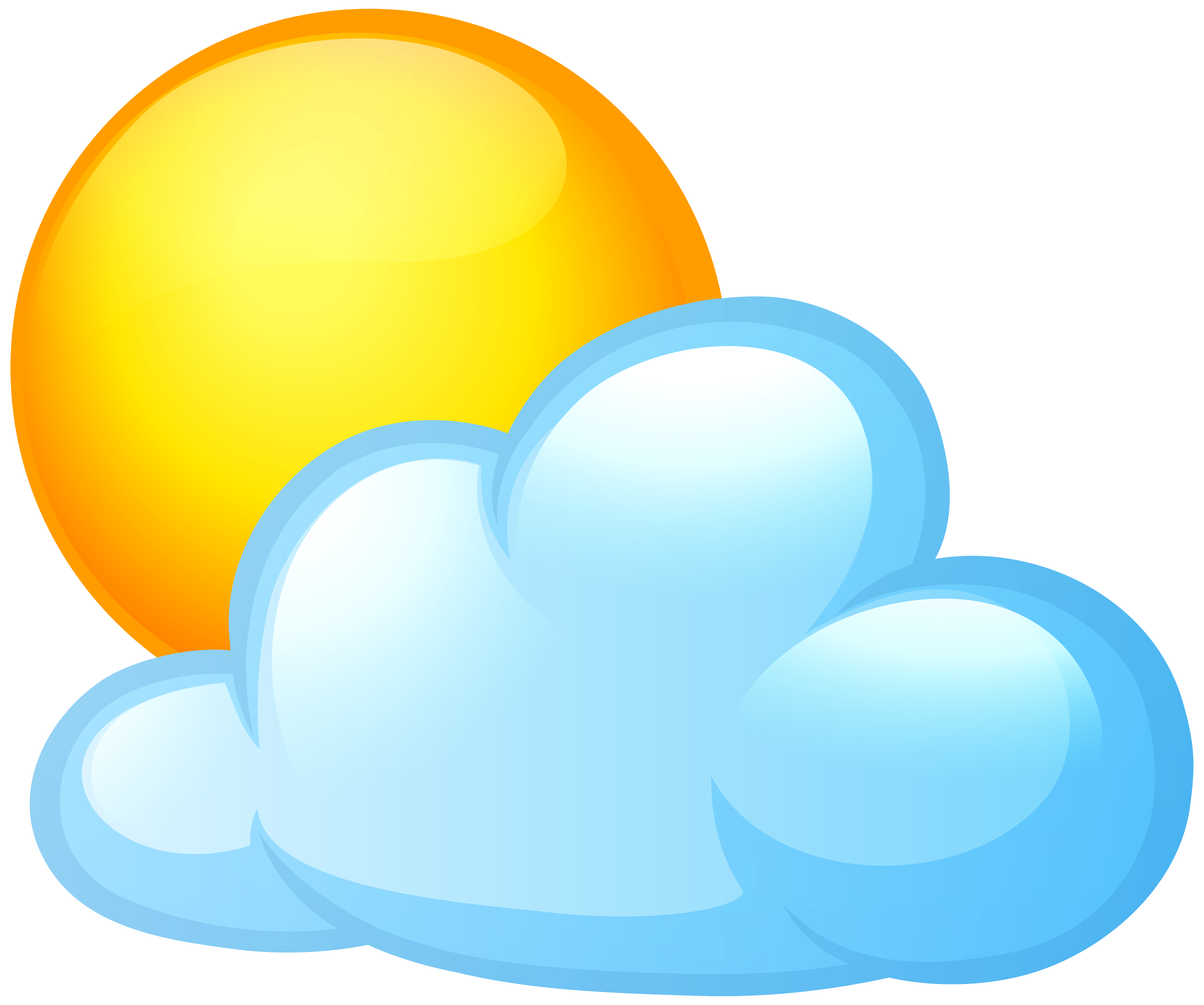 sun and clouds png