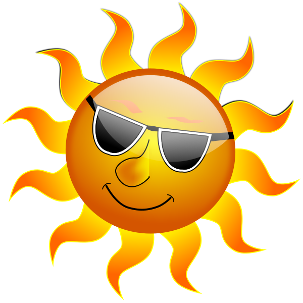 Sun clipart summer. Smile panda free images