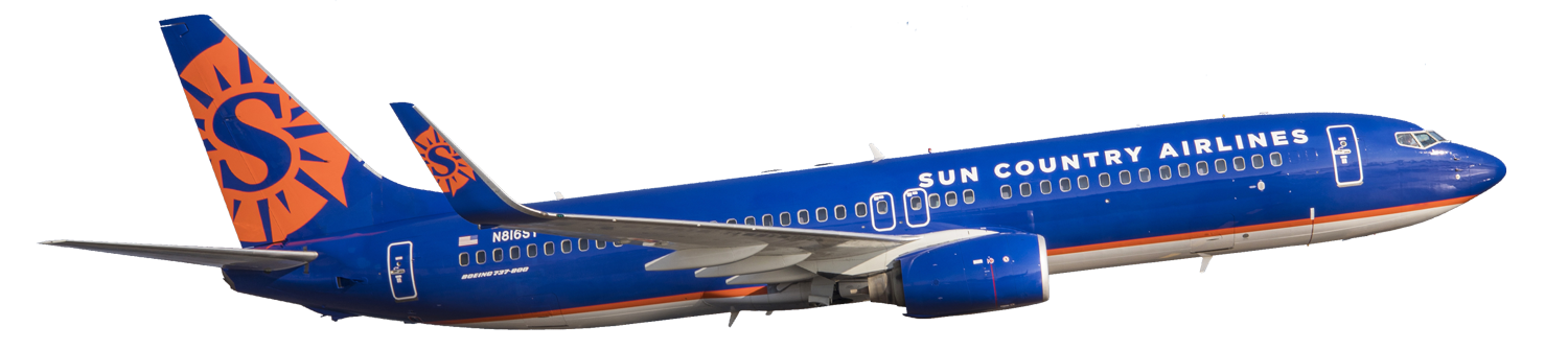 Sun country airlines logo png. Suncountry plane web barefoot