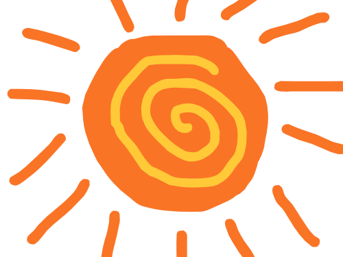 Sun doodle png. Wiggle animation eric chan