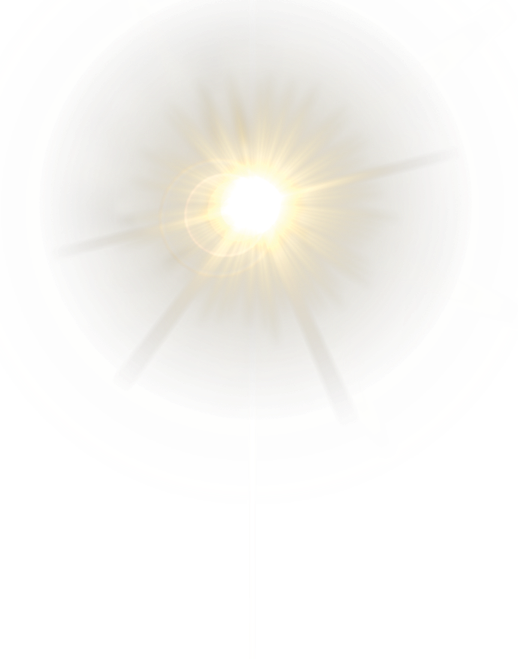 Light effect hd png. Lensflare effects sun