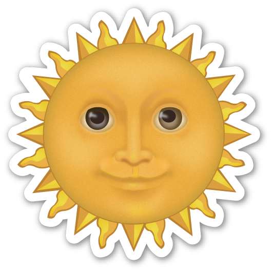 Sun emoji png. With face emojistickers com