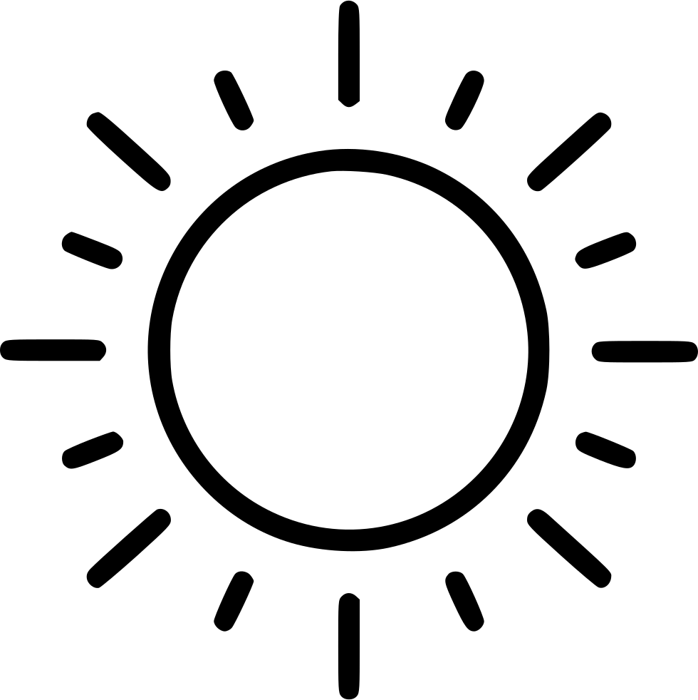 Sun icon png. Full svg free download