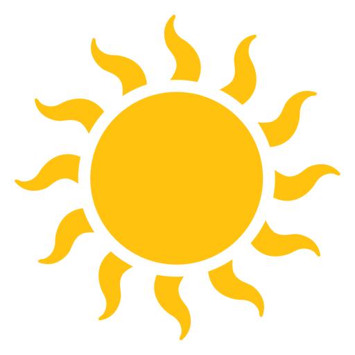 Sun transparent png. Large wavy beams icon