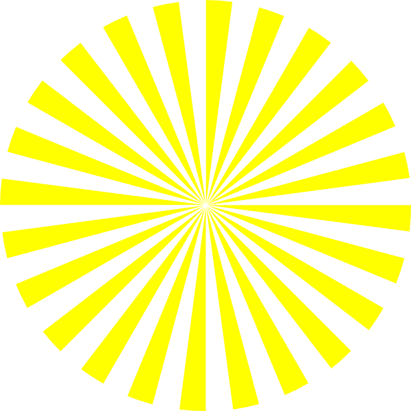 Sunburst vector png. Yellow clip art at