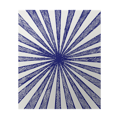 Sunburst background png. Circus doodle style poster