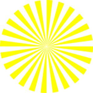 Sunburst clipart circle. Yellow clip art at