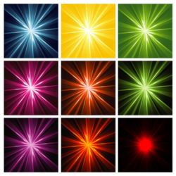 Glow vector abstract. Free light rays background