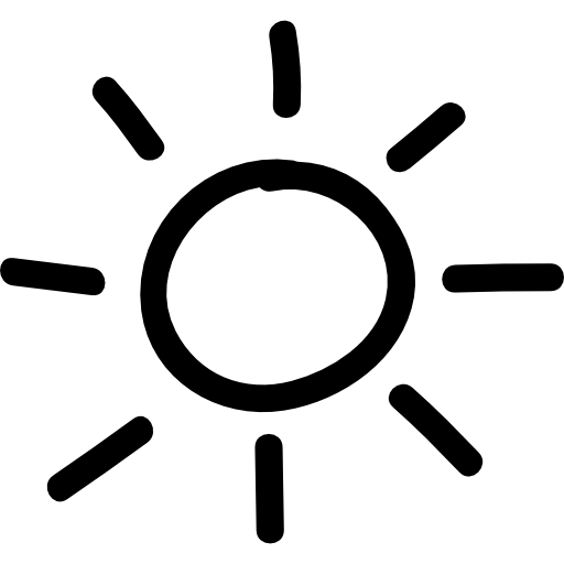 Icons transparent sun. Hand drawn symbol free