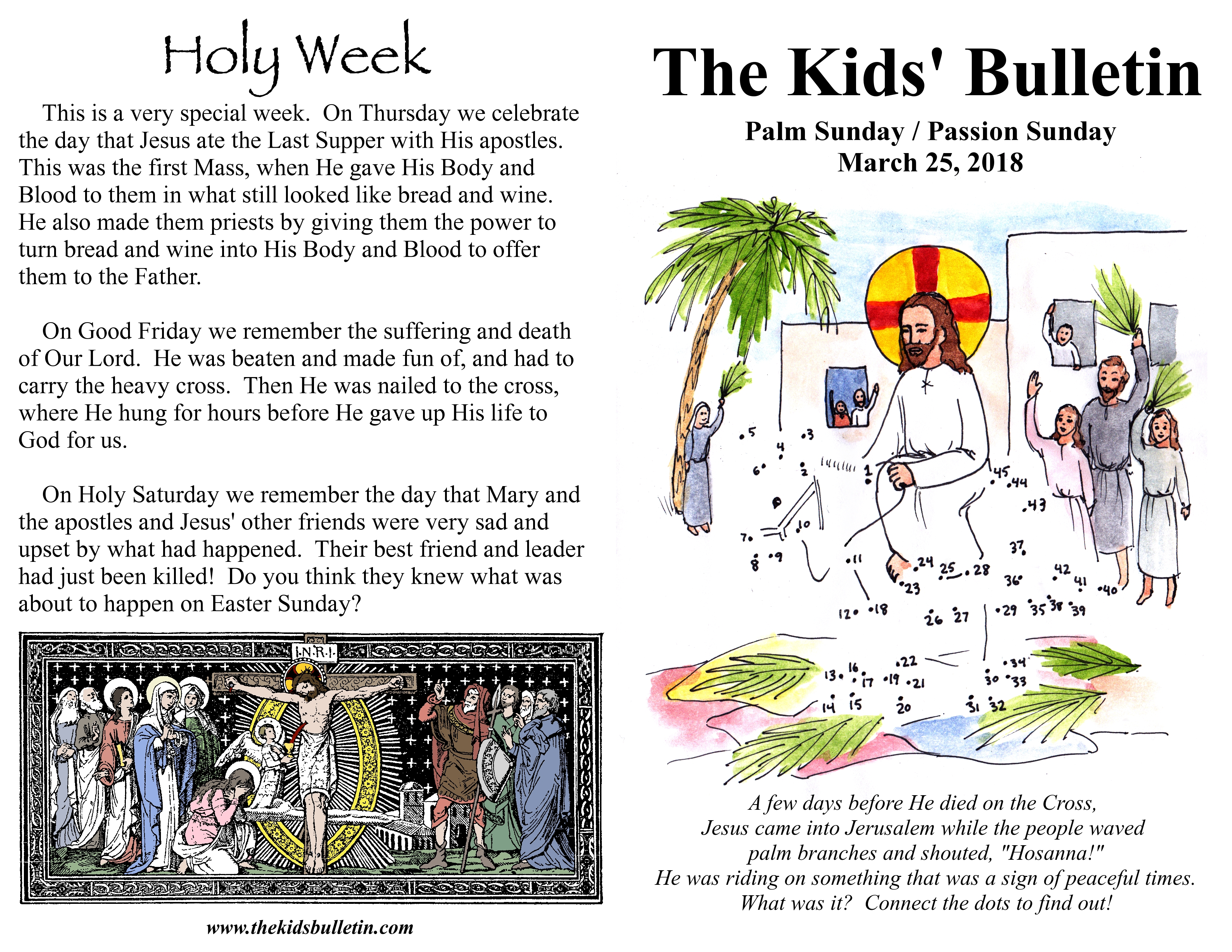 Sunday clipart palmpassion. The kids bulletin for