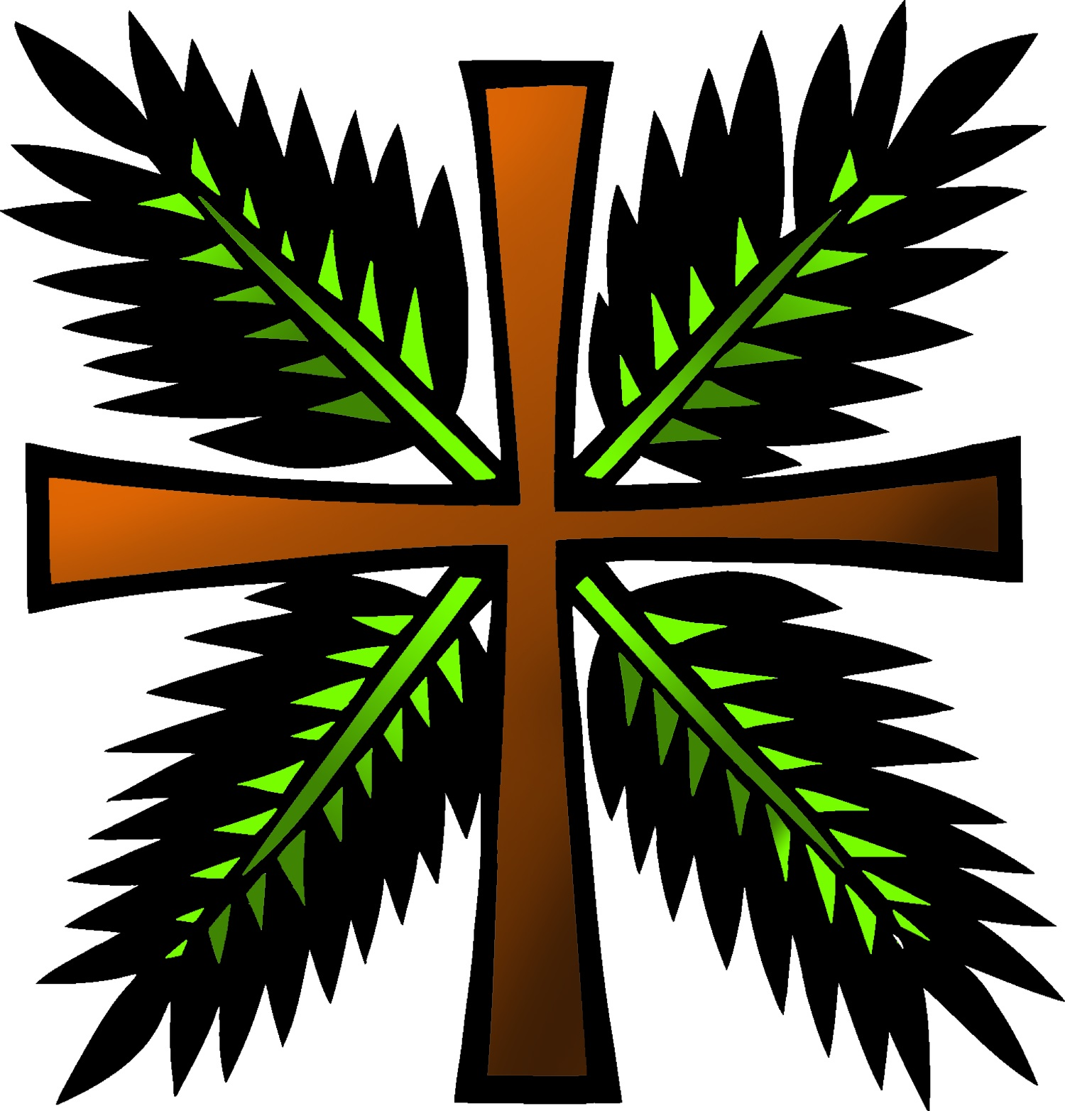 Sunday clipart palmpassion. Bulletin palm passion trinity