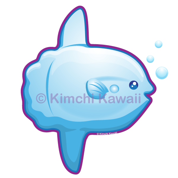 Kawaii by kimchikawaii on. Sunfish drawing clipart black and white download