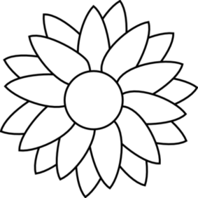 Sunflower clipart black and white. Free cliparts download clip